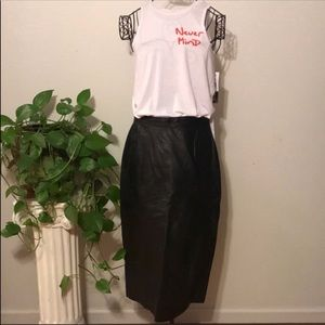 J Percy leather pencil skirt